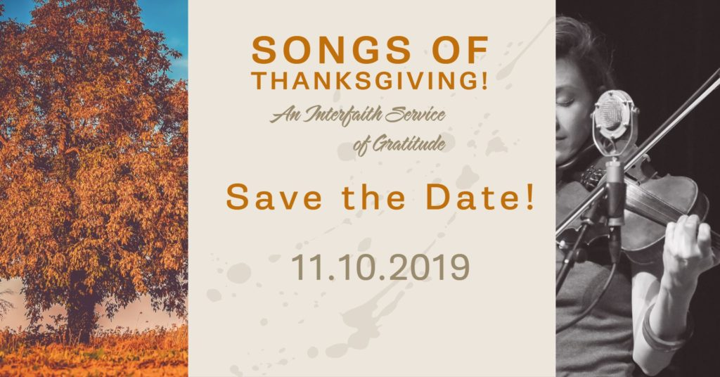 2019 Songs of Thanksgiving Flyer