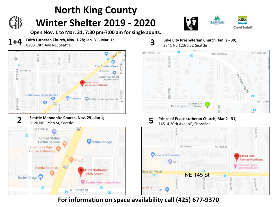 North King County Winter Shelter 2019 2020